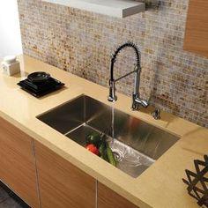 VIGO VG3019B Single Bowl Undermount Stainless Steel Kitchen Sink $335.4 |  In The Garden | Pinterest | Stainless Steel Kitchen, Sinks And Stainu2026