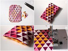 Origami Schmetterling aus Stoff Naehanleitung Stoffreste modage 6
