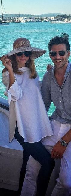 Who made Olivia Palermo's white off the shoulder top?