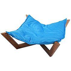 Giantex Pet Hammock Bed Dog Nap Mat Cat Sleeping Pad Cushion Bamboo Lounge Small (Blue)