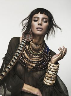 Culture Remix --- Nuria Nieva by Jesus Alonso for Elle Romania August 2014 [Editorial]