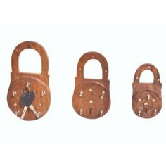 Onlineshoppee Wooden Antique Lock Shaped Key Holder