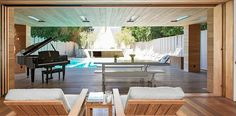 Pin for Later: 20 Celebrity Pools That Rival Personal Water Parks Pamela Anderson If you like the look of her pool, you can lease the former Baywatch babe's modern California home.