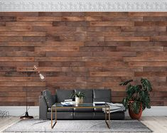 Blue Distressed Barnwood Plank Wood Peel and Stick Wallpaper | Etsy Look Wallpaper, Vinyl Wallpaper, Textured Wallpaper, Peel And Stick Wallpaper, Adhesive Wallpaper, Wallpaper Shops, Floor Murals, Wall Murals, Wall Art