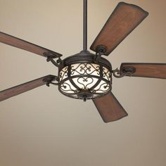 "lamps plus. $250.  For my bedroom. 54"" Hermitage™ Golden Forged  Ceiling Fan"