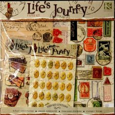 "K & Company Life's Journey 12""x 12"" Scrapbook Pages Kit is available at Scrapbookfare."