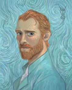 "Vincent Van Gogh - David Ardinaryas Lojaya (@david_ardinaryas_lojaya) on Instagram: ""A tribute for Vincent Van Gogh. Inspired after watching @lovingvincentmovie , such a great film 🙏🏻"""