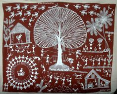 Image result for art of tribes Om Namah Shivaya, World Environment Day Posters, Worli Painting, Indian Arts And Crafts, Indian Folk Art, Indian Art Paintings, Madhubani Painting, Hand Painted Rocks, Tribal Art
