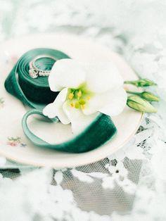 Emerald Velvet Ribbon