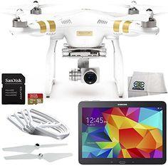 DJI Phantom 3 Professional Quadcopter Drone with 4K UHD Video Camera   Samsung Galaxy Tab 4 (10.1-Inch