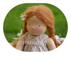 This is a listing for CUSTOM MADE 16 Waldorf doll. These dolls have brushed mohair for hair in various colours ( copper, fiery ginger, pale blond, darker blond, golden, medium brown, dark brown, chestnut brown, white and black ) For skin I have pale skine tone, tanned, redbrown,