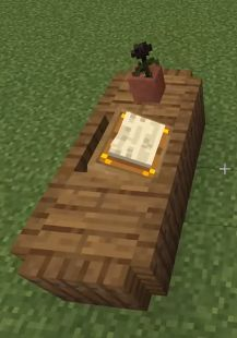 1.14 Minecraft Build Hacks - desk w/lectern Chalet Minecraft, Minecraft Villa, Minecraft World, Architecture Minecraft, Casa Medieval Minecraft, Minecraft Mansion, Minecraft Interior Design, Easy Minecraft Houses, Minecraft House Designs