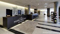Reception & bar - Bühlmann Airport Hotel interior design in Aalborg, Denmark - by Danielsen Spaceplanning