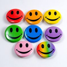 Smiley face pin's were so big in the 70's, came in all sizes and colors!