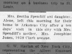 The Parsons Daily Sun (Parsons, Kansas) 9 April 1918, p 5. Josephine Gear Jones family.