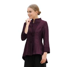IC Collection Jacket in Eggplant - 2782J-EGG