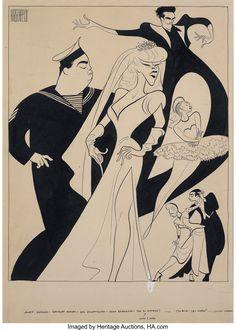 AL HIRSCHFELD Follow the Girls, featuring Jackie Gleason, 1944