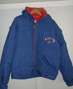 www.jaedasplaythings.com Ford Motorsport Hooded Jacket Size Large Blue Vintage Racing