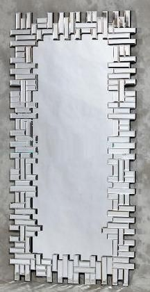 Puzzle Design Bevelled Art Deco Wall Mirror - £189.00 - Prints, Artwork & Sculptures - Wall Decor UK