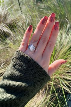 True Romance round diamond solitaire engagement ring with curved wedding bands from Diamonds Direct. #trueromance #round #diamond #solitaire #engagementring #engagementrings #curved #weddingbands #bands