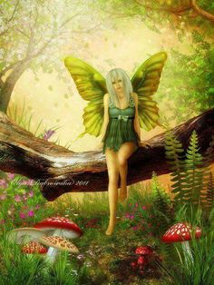Fairy Art by Olga Dabrowska Woodland Creatures, Magical Creatures, Fantasy Creatures, Unicorn And Fairies, Unicorns And Mermaids, Fairy Dust, Fairy Tales, Dragons, Fairy Paintings