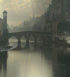 Dreaming...  Misty Verona, Italy