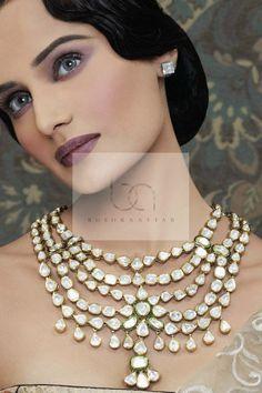 Bushra Aftab Victorian-blend Kundan jewellery