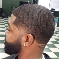 Clean haircut for men.. Faded lined up nice waves