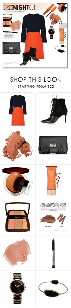 """Girl's out"" by vkmd ❤ liked on Polyvore featuring Victoria, Victoria Beckham, Anja, River Island, Bobbi Brown Cosmetics, Diane Von Furstenberg, Clinique, Jane Iredale, Lancôme, Urban Decay and Marc Jacobs"