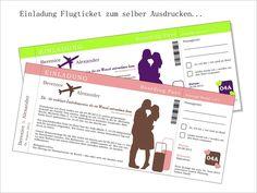 Einladung Hochzeit   Flugticket (PDF)