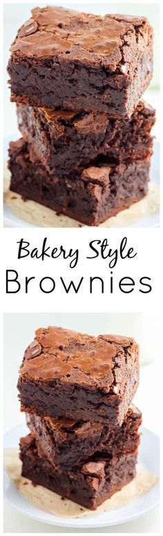 Brownies This is the recipe for the FAMOUS Baked Bakery brownies! Super thick, fudgy, and sure to win you over! Posted by: This is the recipe for the FAMOUS Baked Bakery brownies! Super thick, fudgy, and sure to win you over! Posted by: No Bake Desserts, Just Desserts, Delicious Desserts, Dessert Recipes, Baking Desserts, Healthy Desserts, Brownie Recipes, Cookie Recipes, Fudgy Brownie Recipe