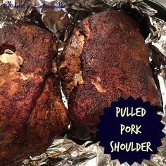 This easy smoker recipe for Pulled Pork Shoulder will have your mouth watering! Juicy and flavorful, you'll love how it permeates the meat with goodness.