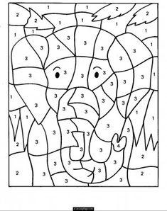 dibujos colorear numeros niños - Buscar con Google