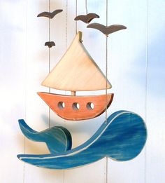 Baby mobile wooden baby mobile baby room by woodheartgifts on Etsy, $58.00