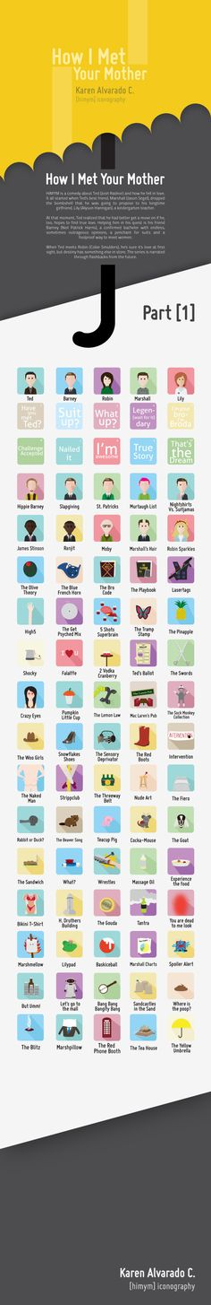 [himym] iconography by Karen Alvarado