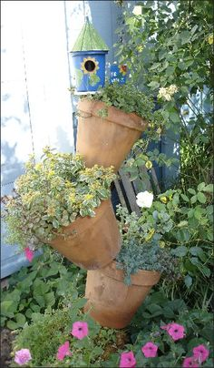 Flower pots! Please enjoy this repin! Be sure to visit my Facebook page: Stay Beautiful Within or my blog www.staybeautifulwithin.blogspot.com