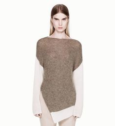 HELMUT LANG BRUSHED ALPACA SWEATER