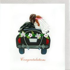 Just Married LV221 6 x 6 par QuillingCard sur Etsy