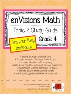 12 Best Envision 4th Grade Math images in 2015 | Envision