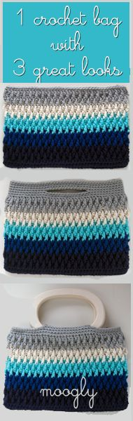 Chroma Crochet Bag - choose your colors and then choose your style! Free pattern from Moogly!