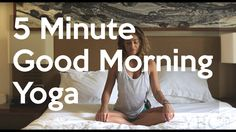 This is a five minute morning yoga in bed video to help wake you up and get started with your day on the right foot. This was filmed at El Mangroove Hotel in. Bed Yoga, Yoga Restaurativa, Wake Up Yoga, Yoga Flow, Vinyasa Yoga, Morning Stretches Routine, Yoga Routines, Morning Routines, Detox Yoga