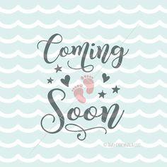 Coming Soon SVG File. Cricut Explore and more. Baby Preggers