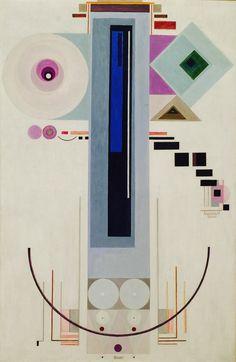 """""""Blue Center""""  Rudolf Bauer, 1934"""
