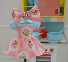 Sweet Petite Vintage Dress and Bow Set for by SweetPetiteShoppe
