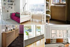 cache radiateur design transformé en meuble à clayettes