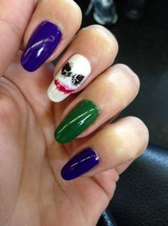 The Joker - nail art by me! Thanks for sharing SHEfinds!