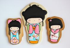 Japanese Kokeshi Doll Cookies