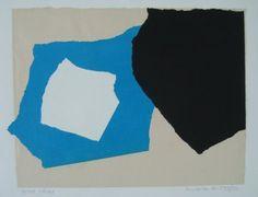 Andre van der Vossen (1893-1963) – Trois Taches (ca.1953) – Gemengde techniek (collage) – 34 x 25 cm –  ,  …