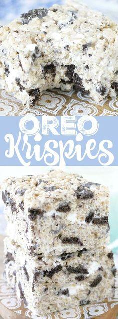 Oreo Krispies (kids cooking party summer)