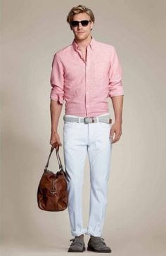 J.Crew's Indian cotton shirt in canyon red stripe would pair ...